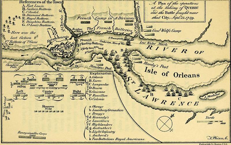 Map Siege of Quebec