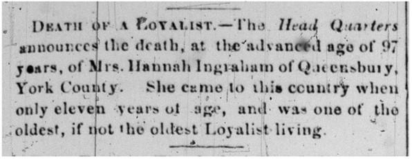 Hannah's obituary