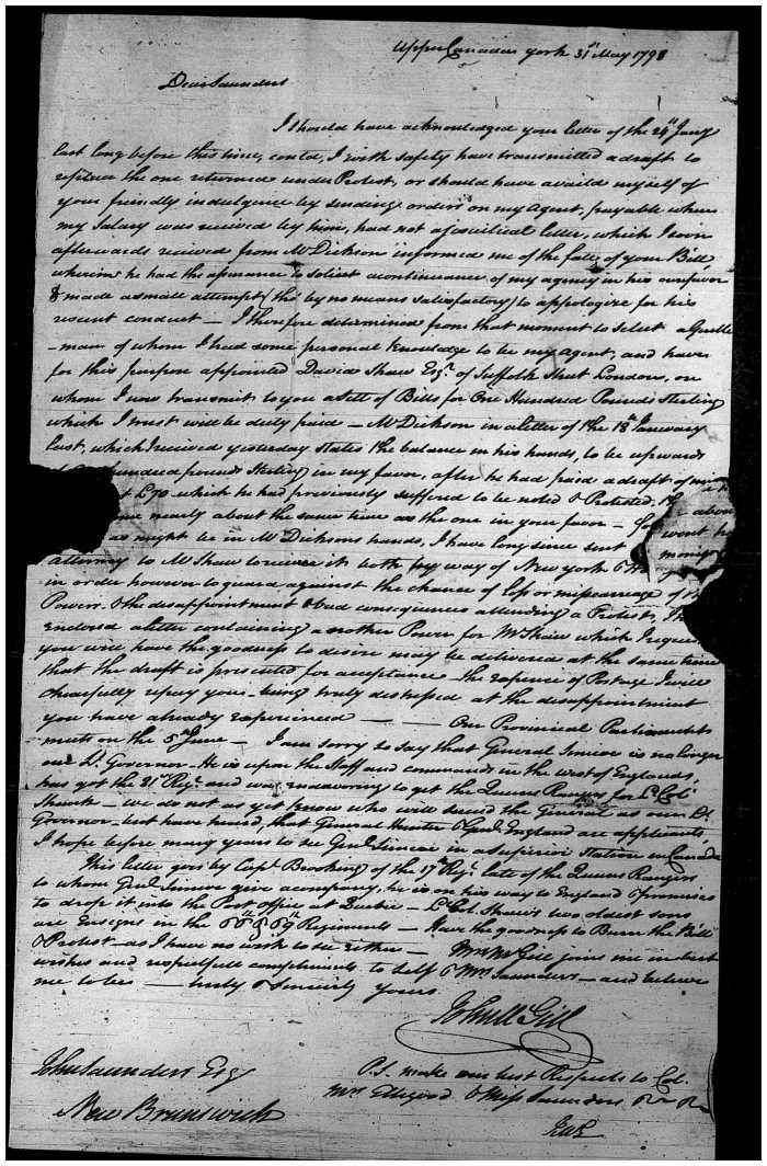 McGill letter