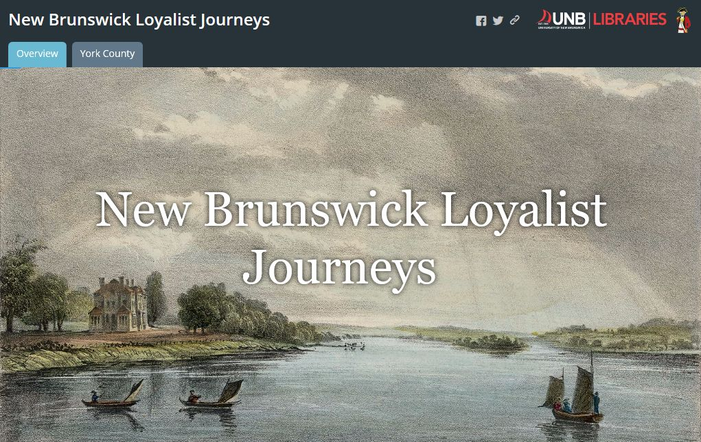 New Brunswick Loyalist Journeys Landing Page
