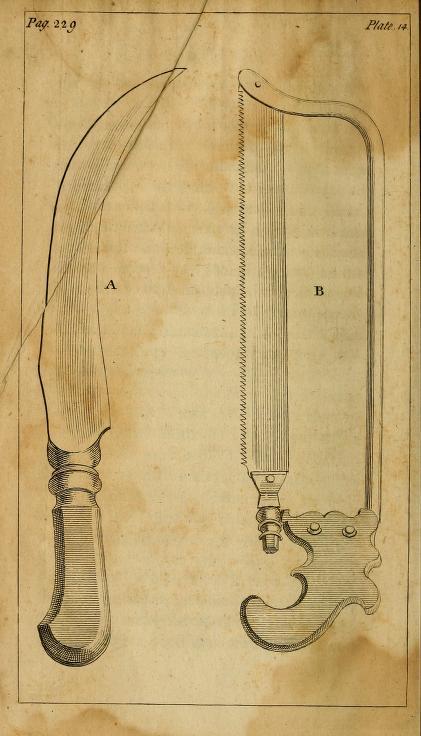 Knife and bone saw