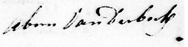 Vanderbeck signature