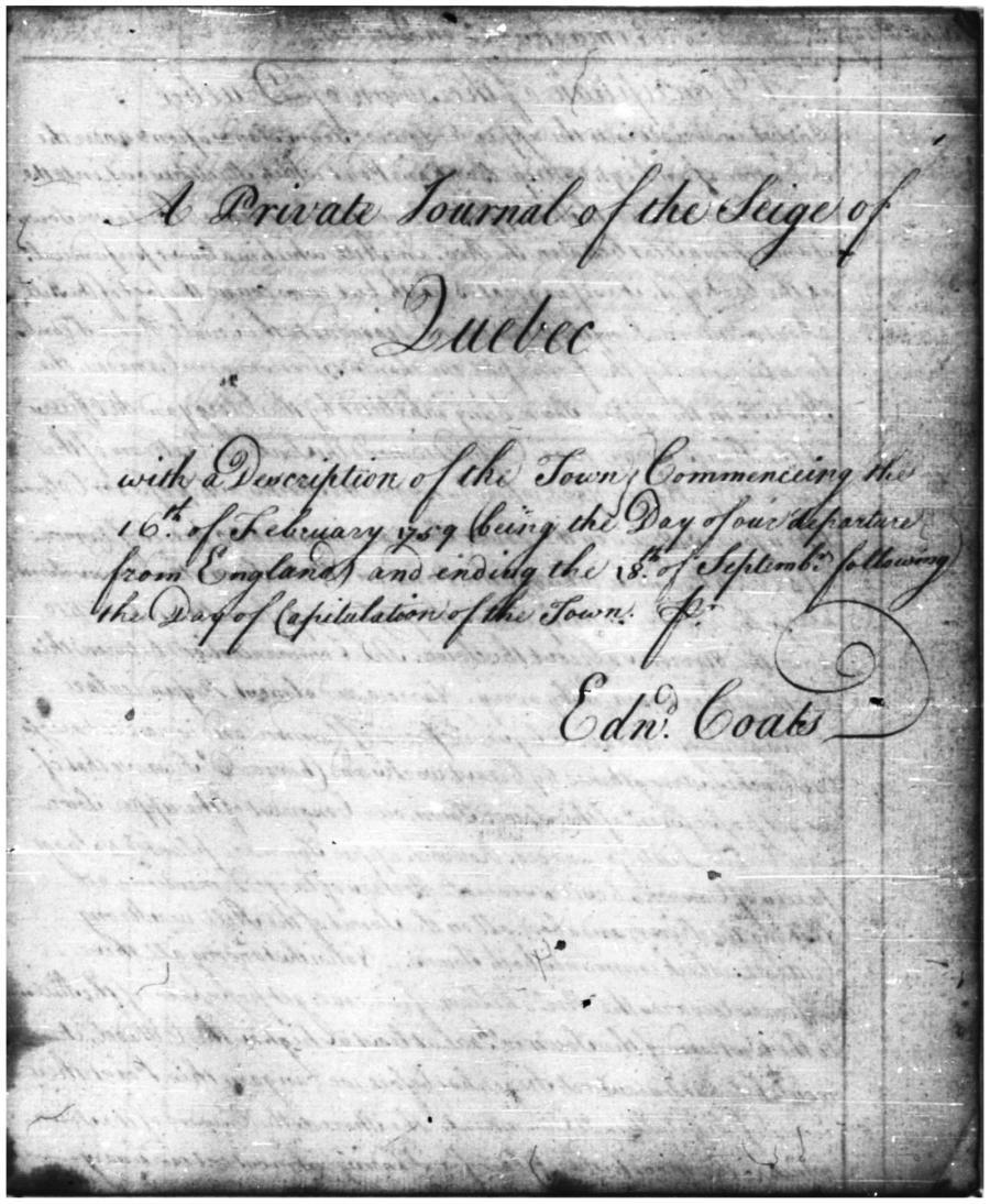 Coats' journal