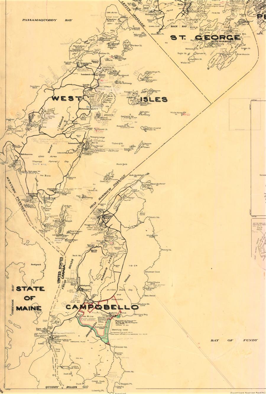 Land grant map