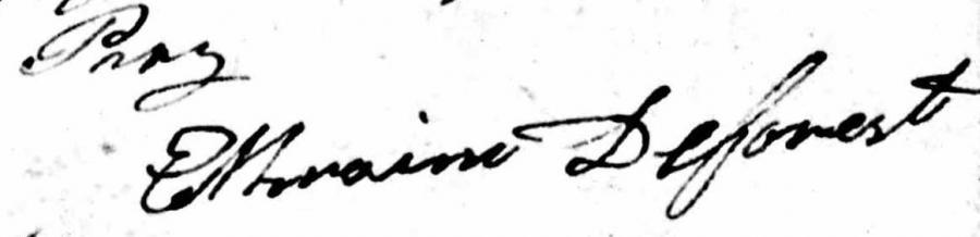 Ephraim Deforest signature