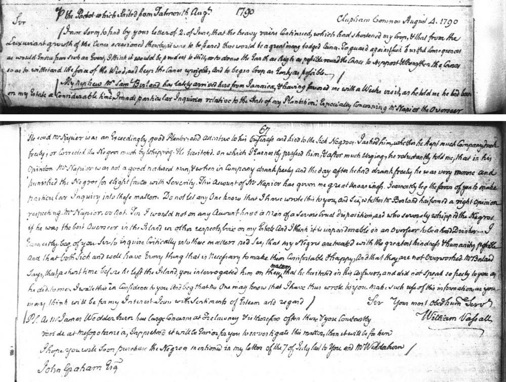 Vassall's letter book