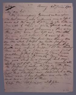 Winslow Letter Before