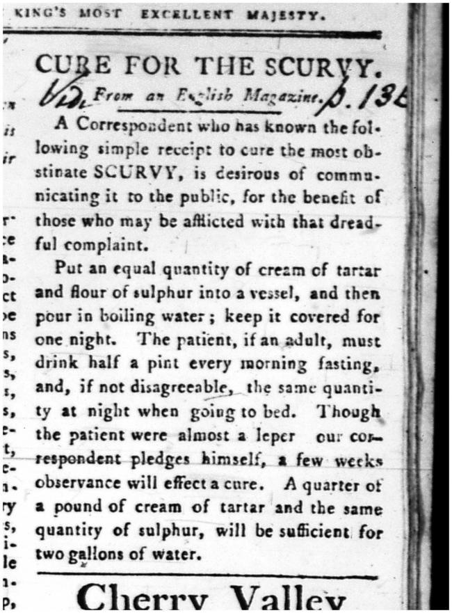 scurvy cure