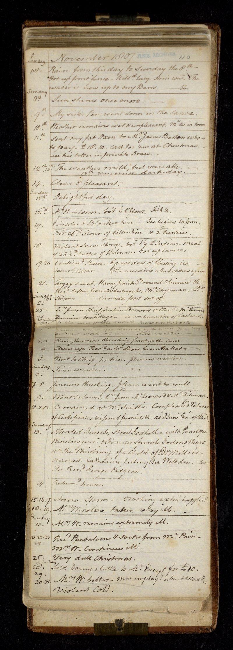 Winslow diary